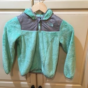 Girls toddlers the north face fleece hoodie jacket